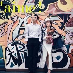 厦门城市街景婚纱艺术照