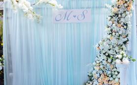 【户外婚礼】50-80人小型婚礼静谧蓝超个性温馨