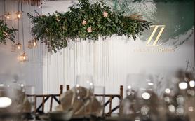 【极简婚礼】北欧风墨绿色森系小清新婚礼带工业金属