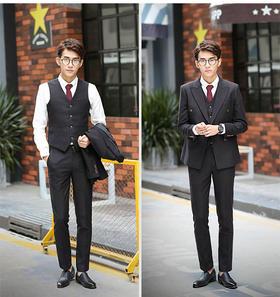 西服領帶青年英倫雙排扣西裝新郎結婚禮服領帶搭配