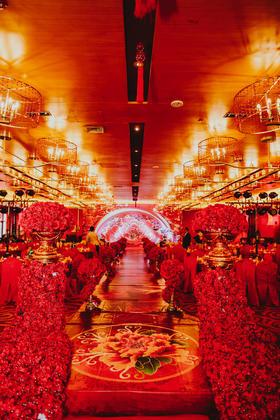 栋景艺术 红色主题婚礼   国色天香