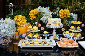 花间婚礼-创意小黄人主题宝宝家宴