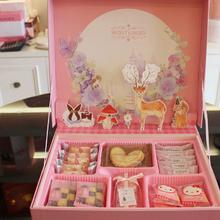 秘密花园 粉色版结婚订婚满月创意礼盒含糖