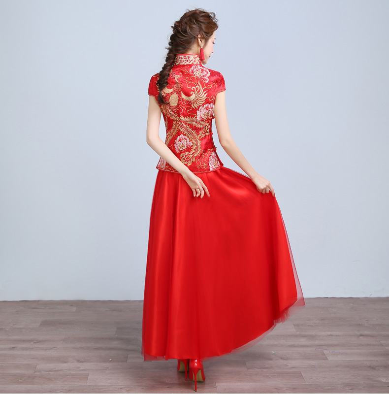 秀禾服春夏中式婚纱礼服结婚敬酒服古装新娘喜服龙凤
