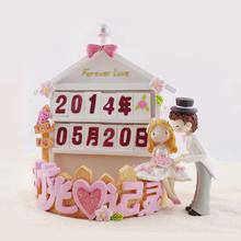 时光记录创意摆件结婚实物实用礼品创意家居饰品高档新婚房工艺品