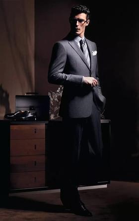 苏色定制结婚西服 | 暗格纹男士套西