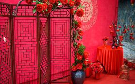 大红色喜庆传统中式复古婚礼