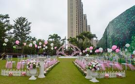 户外草坪西式浪漫小清新婚礼