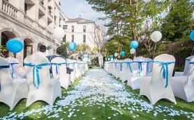 蓝色浪漫户外小清新个性婚礼