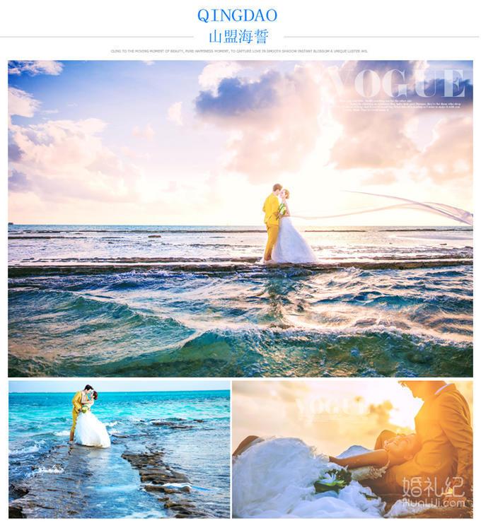 青岛夜景精选旅拍 送婚纱 送游艇 vip接机服务,婚礼