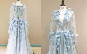 Dream系列灰粉色婚纱
