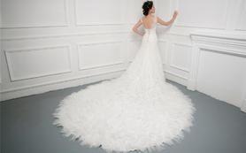 高定拖尾租赁套—Hello魔镜高级婚纱礼服设计