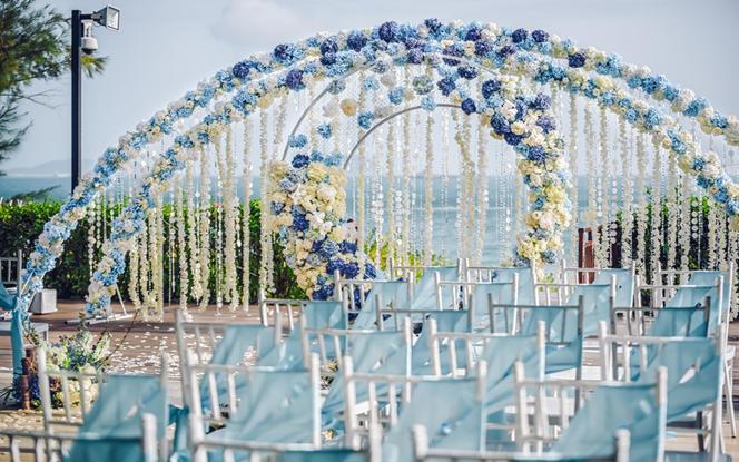 【蘭印婚礼】 清新白蓝