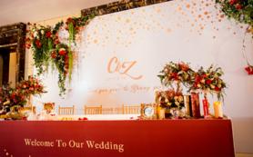 【闺蜜婚礼】--酒红色+白色--万达希尔顿酒店