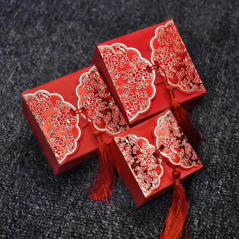 喜糖盒 中国风创意磨砂喜糖盒子 婚庆结婚喜糖包装礼盒12