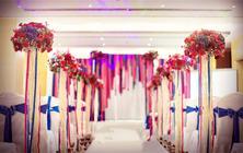 【与礼婚礼策划】— 红与蓝小清新 含布置及人员