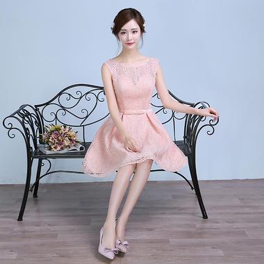 新款伴娘小礼服宴会聚会姐妹装韩版生日连衣裙
