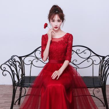 新品特惠!新款敬酒服新娘结婚韩版公主 长款晚礼服