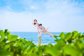 洛伊娜大小洞天海滩水下婚纱照