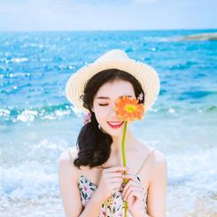日系海滩婚纱照
