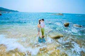 日系海滩婚纱照客片