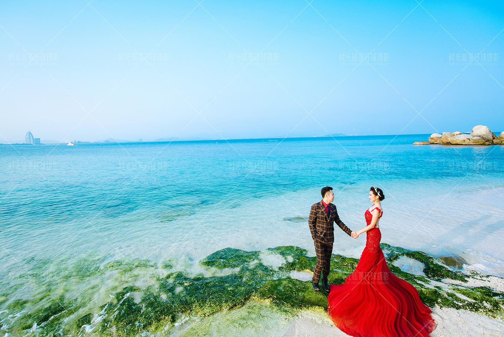 小清新海景婚纱照