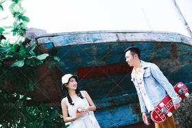 小清新海景婚纱照客片