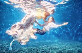 唯美水下婚纱照
