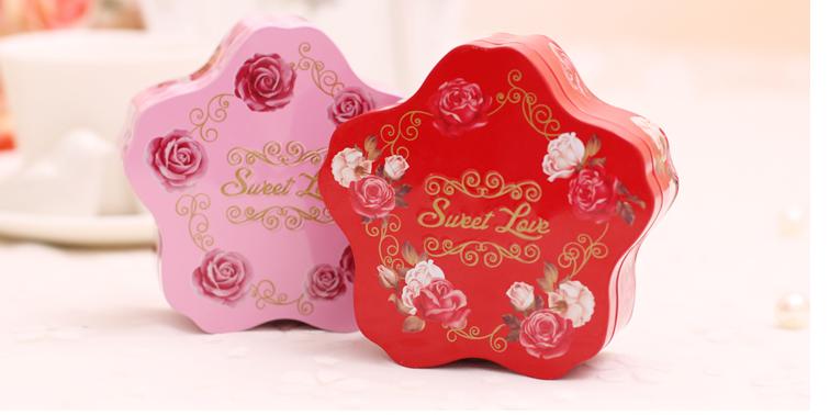 结婚庆宝宝回礼喜糖铁盒 欧式创意浪漫婚礼五角星马口铁喜糖盒子