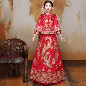 龙凤褂裙新娘礼服结婚敬酒服中式嫁衣旗袍喜服秀禾服