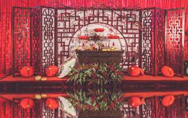 红色中式风佳偶夙缔中式套餐