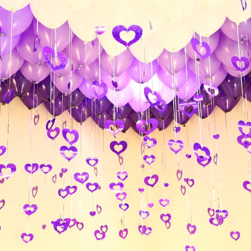 婚庆结婚用品婚房布置创意套餐浪漫婚礼生日氢气球亮片拉花装饰