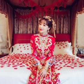 陈紫函同款中式礼服秀禾服新娘结婚敬酒服嫁衣