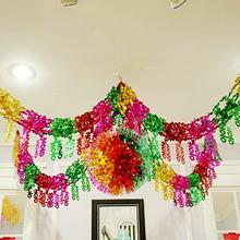 婚庆用品婚房装饰拉花彩条电光纸拉喜彩球吊篮