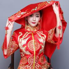 新娘结婚红盖头喜盖头纱喜帕蒙头巾婚庆中式刺绣缎面盖头
