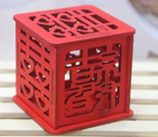 甜心定制个性中式结婚庆回礼创意木质镂空喜糖盒子成品含糖中国风