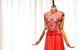 香港TOPBRIDE 刺绣钉珠奢华旗袍Q8552