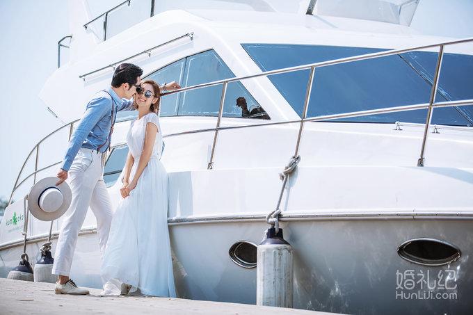青岛 米娜婚纱摄影---浪漫游艇度假风图片