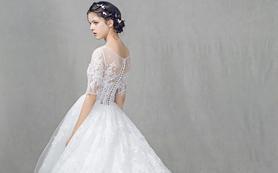 森密之境系列定制婚纱+礼服 5件套 包含妆容定制