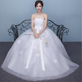 孕妇婚纱礼服齐地简约夏季新款抹胸新娘红色公主高腰韩版大码