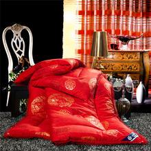 大红色结婚被子加厚保暖结婚婚庆棉被冬被喜庆绣花被芯冬季