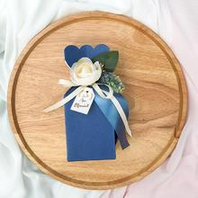 喜糖盒子设计结婚礼品盒韩式创意马卡龙天蓝色结婚巧克力喜糖糖盒
