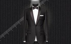 多彩殿堂男士结婚礼服三件套