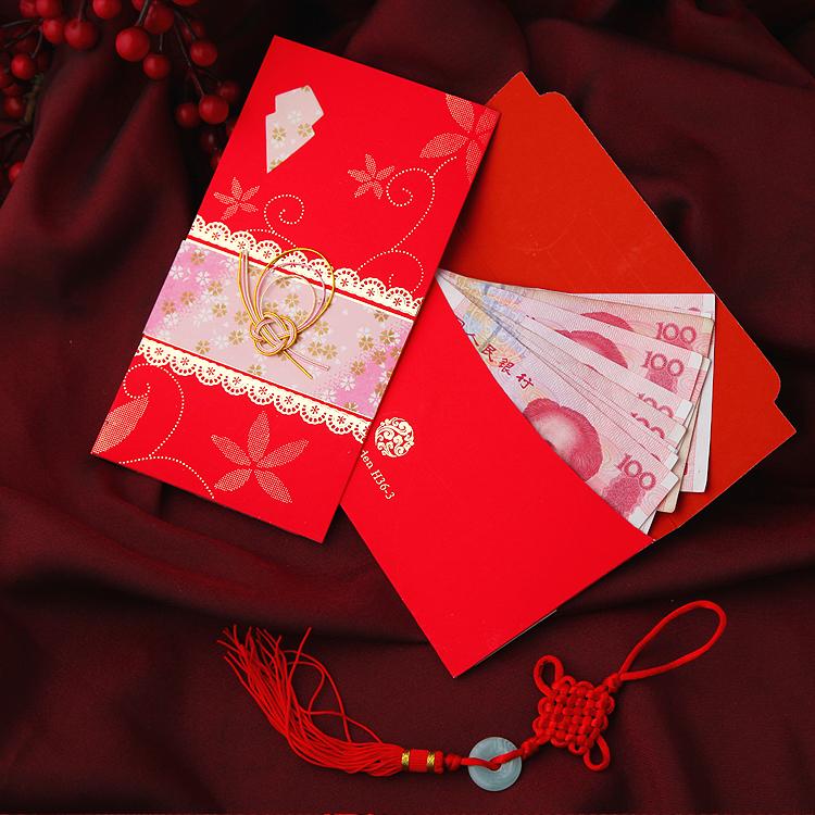 创意结婚手工蝴蝶结红包 千元大红包 红色中式大红包