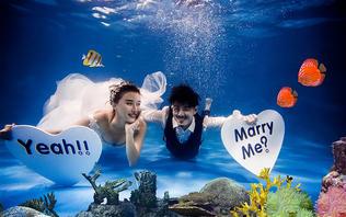 【韩城映像】首席团队+地中海外景沙滩+水下婚纱照