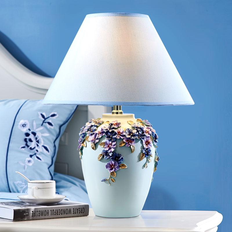 新款 创意欧式台灯时尚可爱现代简约温馨卧室台灯床头灯
