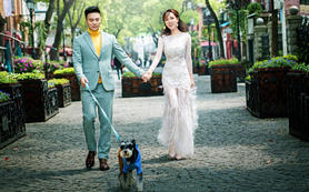 """【特色婚纱照】来一组属于我们""""三个人""""的婚纱照"""