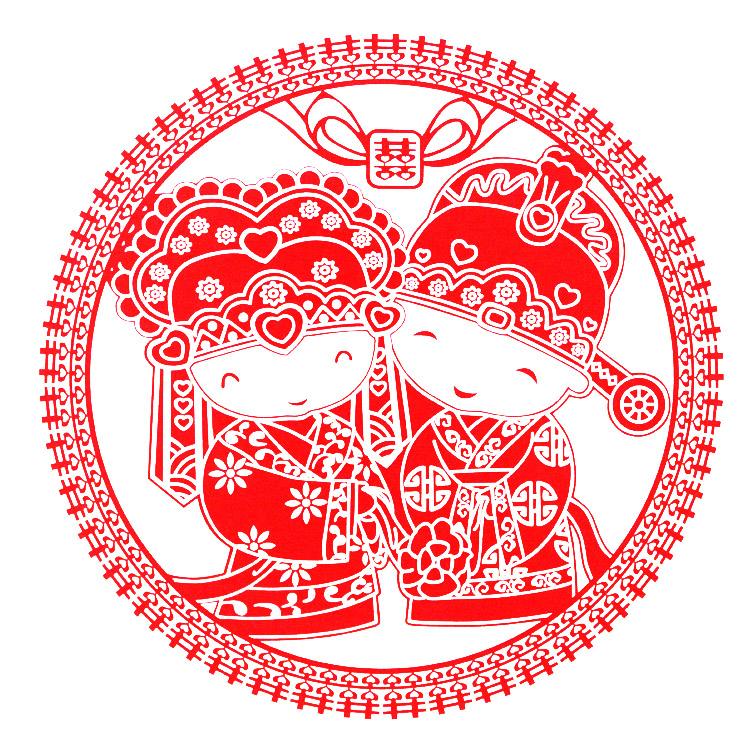 创意结婚喜字贴 婚礼卡通静电喜婚房装饰窗花喜字