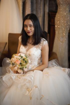 紫澜 春夏新款轻盈美好的蓬蓬裙欢迎预约试纱