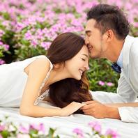 【台北时尚】韩式花海婚纱照 4服4造 底片全送